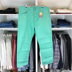 Levi's 501 Men's Straight Leg Green Jeans 42x30